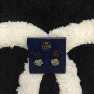 Tory Burch Small T Logo Stud Earrings