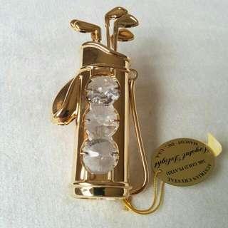 24K Gold Plated Austrian Crystal Decorative Figurine Music Instrument