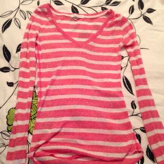 Aeropostale Pink Striped Shirt