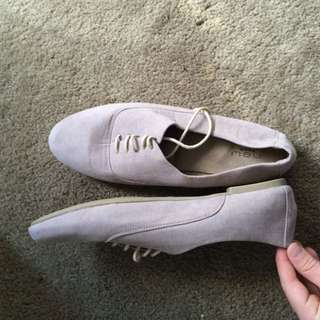 Suede Shoes Tan