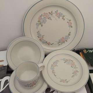 Dishes Set Of 8. Ceramic From Japan