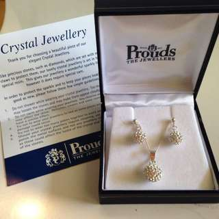 Brand New Crystal Jewellery Set