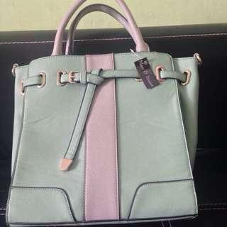 Marc & Stuart - Tosca Green & Grey Hand Bag