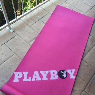 Pink Playboy Yoga Fitness Gym Mat