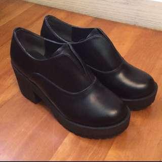 Earth earthmusic 日本帶回 女鞋 踝靴 松糕鞋 24號