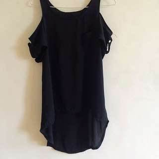 BLACK OFF SHOULDER WITH STRAP TOP