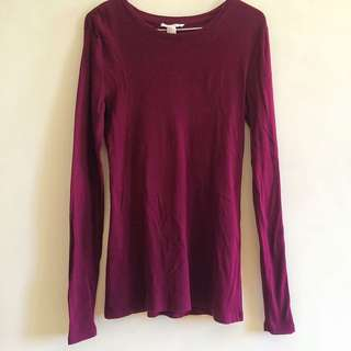 FOREVER 21 MAROON LONG SLEEVES
