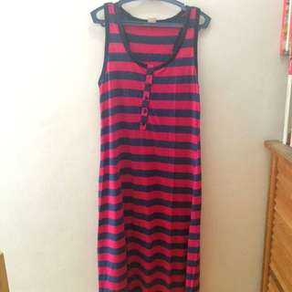 Striped Long Sando Style Dress
