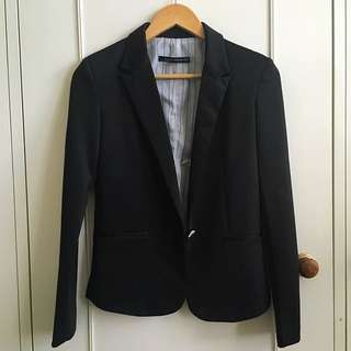 Zara Black Tailored Jacket/blazer