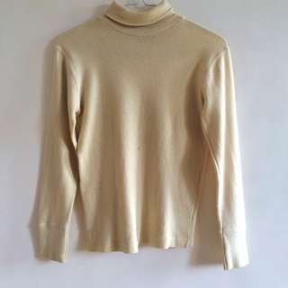 BEIGE TURTLE NECK