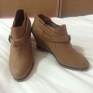 Brown Slip On Wedges