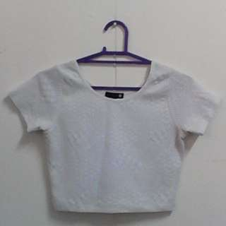 REPRICED White Cropped Top
