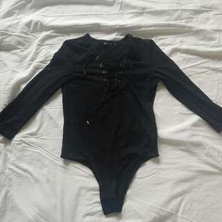 Valley girl Lace Up Body Suit Size S