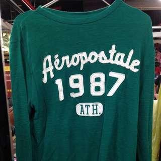 Aeropostale 綠長袖上衣t
