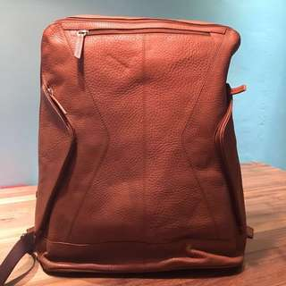 Green Fields Brown Leather Haversack