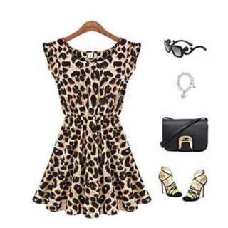 Leopard Print Short Dress