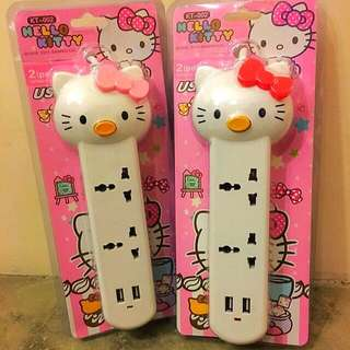 Hello Kitty Extension Cord With USB Port