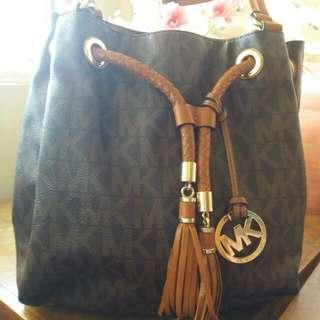 Authentic MK monogrammed Bucket Bag