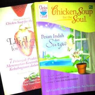 "Chiken Soup For The Soul - ""Pesan Indah Dari Surga"" & ""Life Lessons For Women"" (Book)"