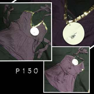 Bado purple halter top