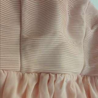 Peach Forever21 Dress: Semi-formal, Wedding, Bridesmaid US:xs