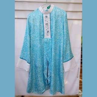 RANTI Blouse Tunic Biru (w/ payet Swarovski) moslemwear baju muslim wanita
