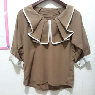 No Label - Brown Blouse