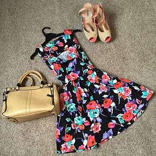 Vintage Style Floral Dress