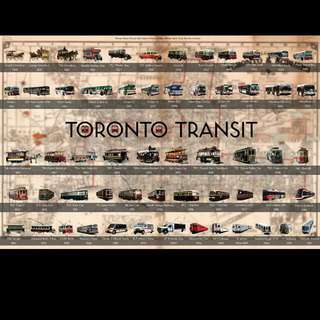 """Toronto Transit"" History Poster"
