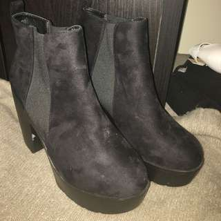 Rubi Shoes Black Boots, Size 9