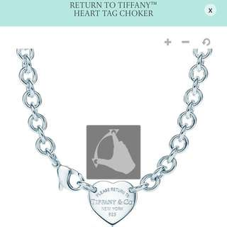 Tiffany And Co Return To Heart Choker Authentic