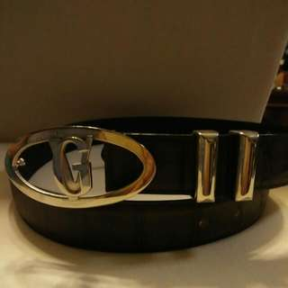 Gianni Versace Brown Leather Belt