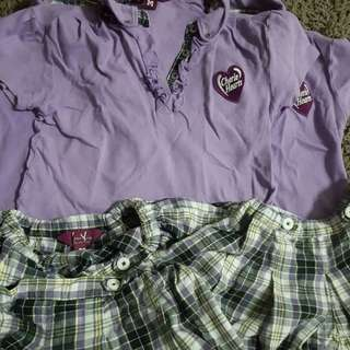 Cherie Hearts Girl Uniform Medium Size 3 sets