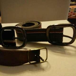 3 Casual Canvas Belts