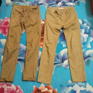 Skinny Pants Cream Colour