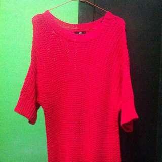[used] H&M Shocking Pink Sweater