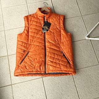 Brand New With Tag Jaffa Orange Jacket Vest From Mountain Designs