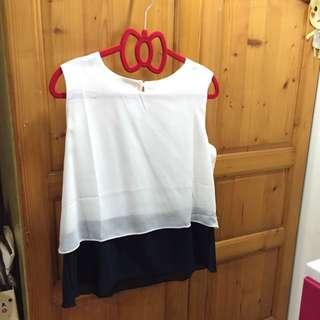 雪紡上衣(白色)