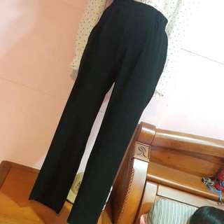 日本製👍百搭黑色高腰美腿褲