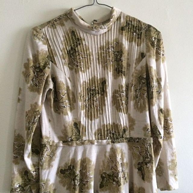70s High Neck Dress