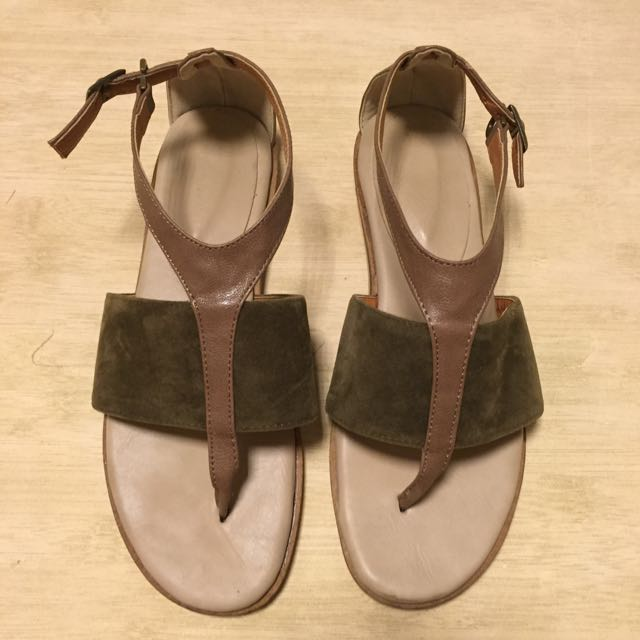 韓 麂皮 涼鞋
