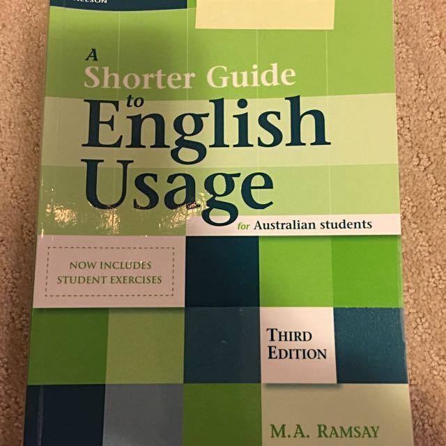 A Shorter Guide To English Usage