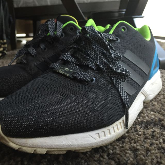 c3113b192 ... sale adidas zx flux black reflective snake edition mens fashion 4eca1  512ec