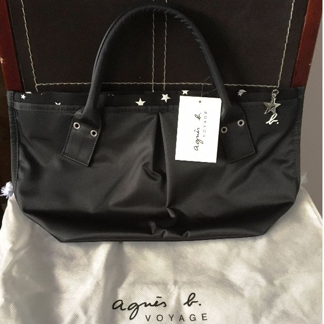 7b4525570a Agnès B Voyage - Classic Nylon Tote Bag (Black   Medium) - Japan ...