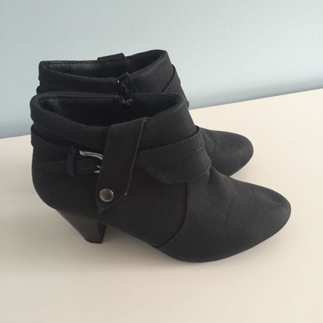 Ankle Buckled Boots