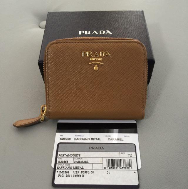 7cca12f0cf2e $199 Fast Deal: Authentic Prada Saffiano Leather Coin Purse, Luxury ...