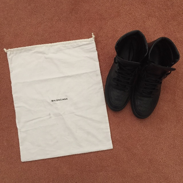 Balenciaga - High Top Leather Sneakers
