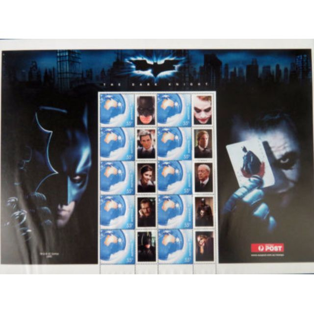 BATMAN DARK KNIGHT Collectable Official Stamps