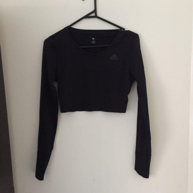 Black Matte Adidas Mesh Crop