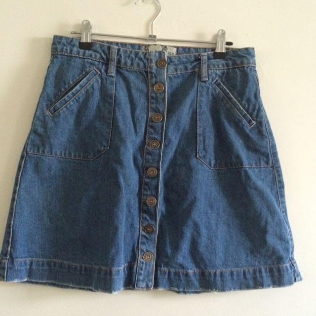 Boohoo Size 10 Denim Skirt